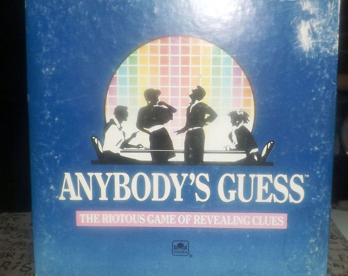 Vintage (1990) Anybody's Guess board game published by Golden. General Knowledge team | party guessing game. Incomplete (see below).