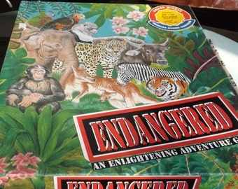 Vintage (1989) Endangered educational/ecological board game published in Canada by Family Games. Incomplete (see details below).