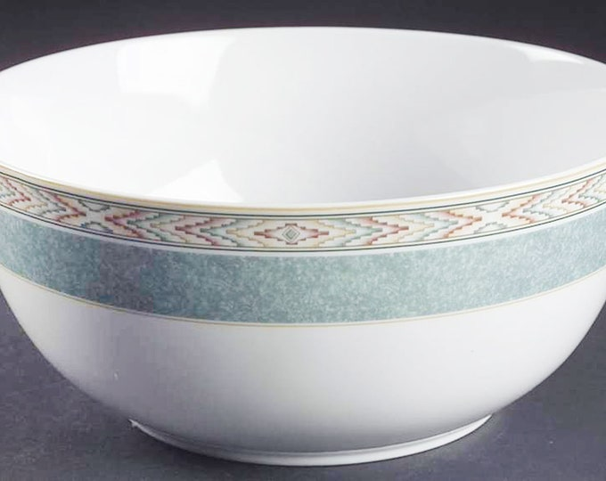 Wedgwood Aztec large salad serving bowl. Wedgwood Home Collection made in Portugal.