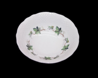 Mid-century Simpson's Potters Concord coupe cereal bowl. Marlborough Old English ironstone made in England. Sold individually.