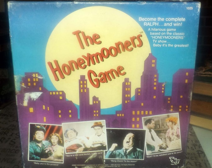 Vintage (1986) The Honeymooner's board game published by TSR | VIP Corporation.  Based on the TV show of the same name. Complete.