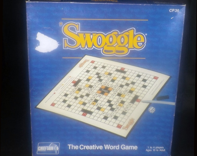 Vintage (1990) Swoggle Crossword board game published in Canada by Chieftain as game CP36. Complete.