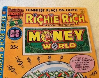Harvey Comics (1979) Richie Rich Money World No. 40 comic book/graphic novel.