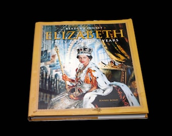 Queen Elizabeth II: Fifty Glorious Years British Royalty illustrated hardcover book. Reader's Digest. Jennie Bond. Complete.