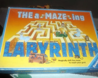 Vintage (1988) The Amazing Labyrinth | A Maze Ing Labyrinth board game made in Germany by quality gamehouse Ravensburger. Complete.