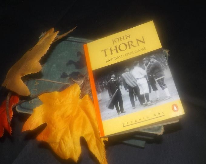 Vintage (1995) paperback mini book John Thorn Baseball: Our Game. Penguin 60s Classics. Baseball Enthusiast gift | stocking stuffer.