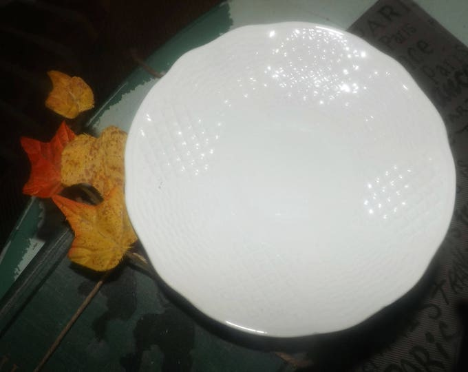 Late mid-century (late 1950s) Simpsons Potters   Marlborough Old English Concord orphan saucer obly (no cup). Embossed leaves.