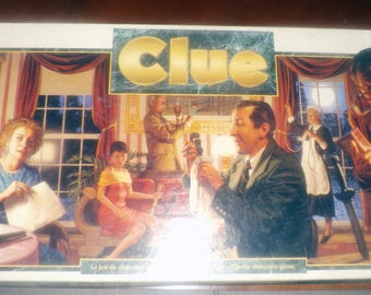 Vintage (1993) classic Clue board game published in Canada by Parker Brothers. Rarer version of the game.  Complete.