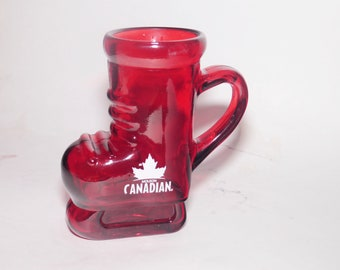 Vintage (1990s) Molson Breweries | Molson Canadian Red Hockey Skate | Hockey Boot 16-ounce beer stein | tankard branded for Kelsey's.