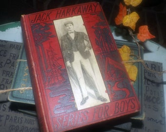 Antique (early 1900s) Jack Harkaway in Australia hardcover book by Bracebridge Hemyng. Complete. Federal Book Company.