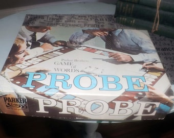 Vintage (1964) Probe board game published in Canada by Parker Brothers. Game of Words. Complete.