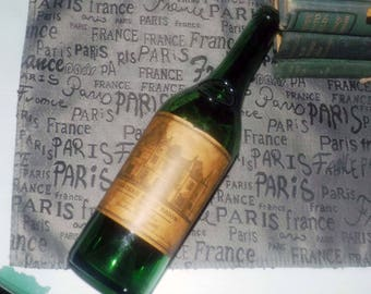 Vintage (1975) Chateau Haut Brion (empty) bottle. Made in Graves, France. Great home bar decor.