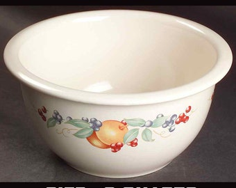 Vintage (early 1990s) Corelle Coordinates | Corning Fruit Abundance mixing bowl. Fruit of lemons, berries and greenery. Choice of size.