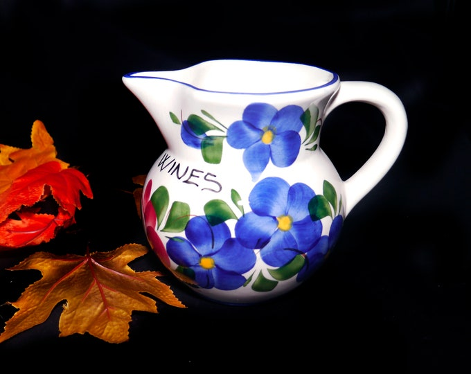 Vintage (1980s) Ceramiche Fabbro Casarsa Wines wine or sangria pitcher | jug hand painted and made in Italy.