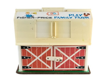 Vintage (1967) Fisher Price Play Farm set made in the USA.