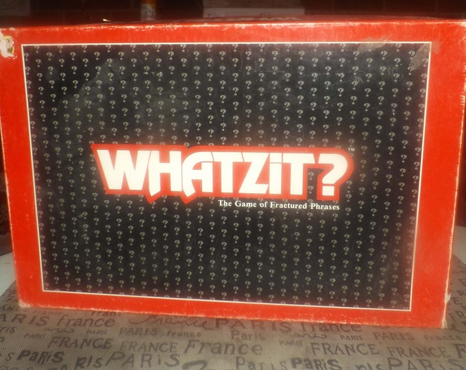 Vintage (1987) Whatzit board game.  Published by Waddington Sanders (a division of Waddingtons). Complete.