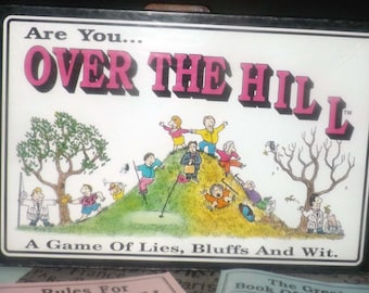 Vintage (1986) Are You Over the Hill board game made in the USA and published by The Game Works.  Complete.