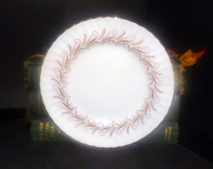 Vintage (1980s) Paragon Harmony Red bread-and-butter, dessert, side plate.