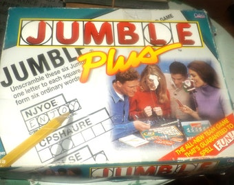 Vintage (1995) Jumble Plus board game made in Canada and published by Cadaco as game 545. Complete.