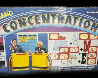 Vintage (1988) Concentration board game published by Pressman. Based on the long-running game show of the same name. Incomplete (see below).