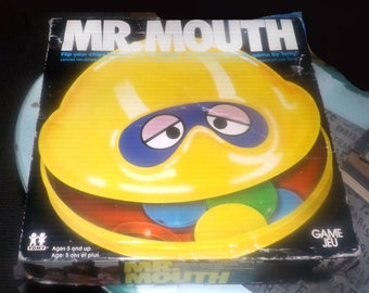 Vintage (1976) Mr. Mouth board game published by Tomy | Parker Brothers. Almost complete (see details below).