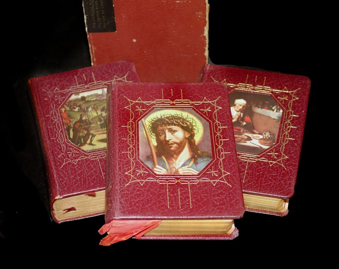 Set of three mid-century Catholic Faith Devotional Books: Missal, Life of Christ, Prayer Book. Catholic Press. John P. O'Connell editor.