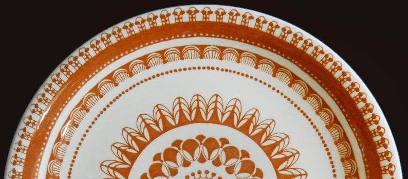 Vintage Wood /& Sons Sierra Retro 70s geometric pattern. retro 1970s Trousseau ironstone dinner plate charger
