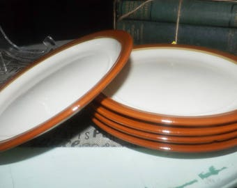Vintage (1970s) Festival Stoneware Congress 138-1002 stoneware salad or side plate. Vintage stoneware made in Japan. Sold individually.