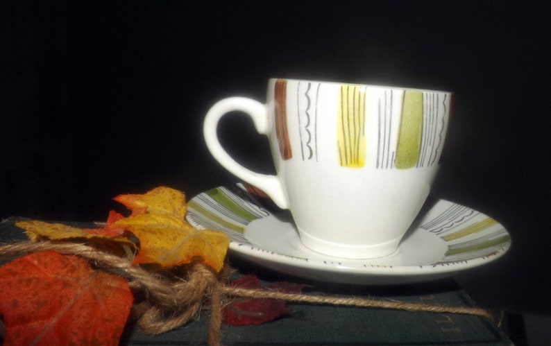 Retro vintage 1960s Broadhurst Mandalay cup and saucer set image 0