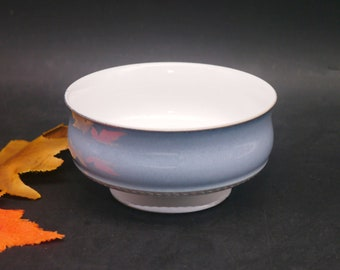 Vintage (1980s) Denby Castile footed stoneware cereal bowl. Vintage stoneware made in England. Sold individually.