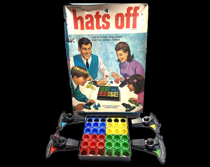 Vintage (1967) Hats Off board game published by Kohner Brothers. Made in the USA. Complete.