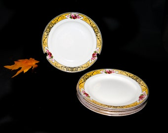Antique (1910s) Grindley Granville art-nouveau salad or side plate made in England. Sold individually.