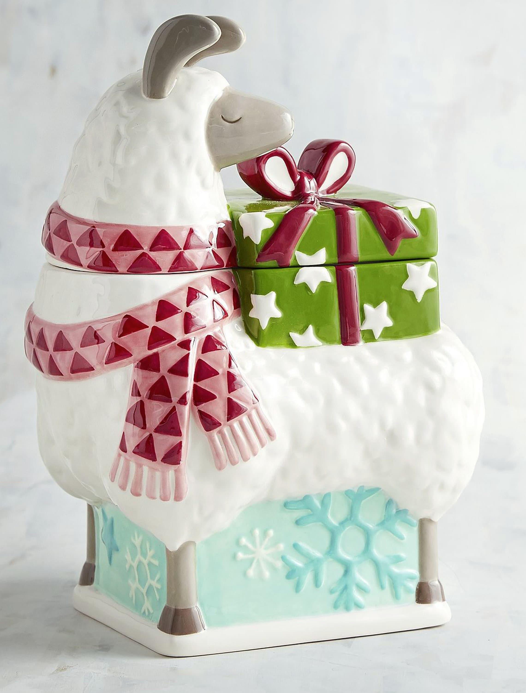 Pier One Christmas.Vintage Pier 1 Pier One Llama Figural Christmas Cookie Jar