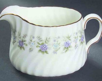 Vintage (1970s) Minton Alpine Spring creamer or sugar bowl made in England. Sold individually.