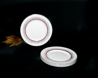 Early mid-century Alfred Meakin Montcalm | MEA349 bread, dessert, side plate. Glo White ironstone made in England. Sold individually.