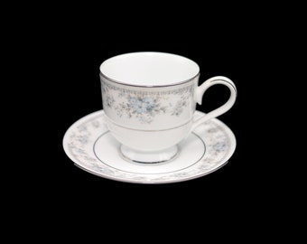 Vintage (1980s) Oneida Artistry Heiress 3078 cup and saucer set made in Ireland. Sets sold individually.