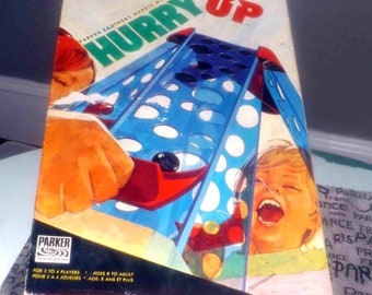 Vintage (1971) Hurry Up marble maze board game by Parker Brothers. Incomplete (see below). Parts | pieces for an existing game