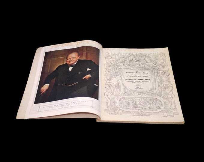 Mid century (1954) The Illustrated London News 80th-year Tribute to Sir Winston Churchill first-edition book. Complete.
