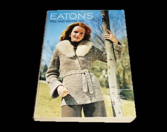 Vintage (1970s) Eatons catalogues. Fall and Winter, Spring and Summer, Christmas Wishbook issues. Sold individually.