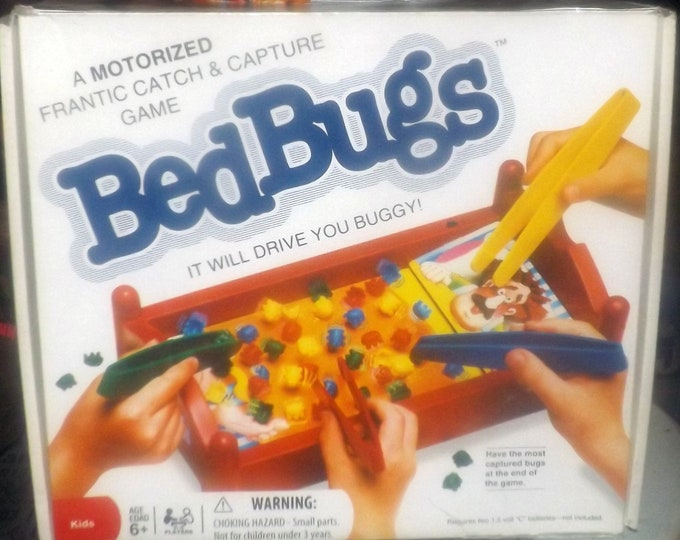 Vintage (1995) Bed Bugs board game published by Patch Products.  Made in USA. Incomplete (see below)