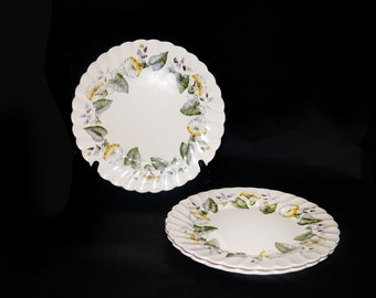 Vintage (1960s) Myott Staffordshire Westmoreland dinner plate. Old Chelsea ironstone made in England. Sold individually.