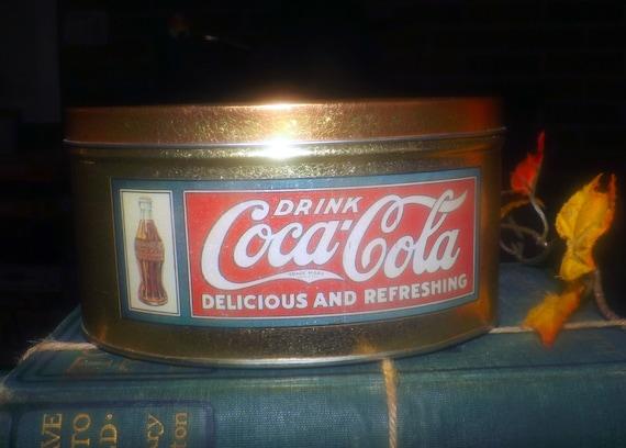 BRAND NEW Coca-Cola Tin Tea Caddy Box Container Vintage Advertising