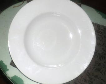 Vintage (mid 1990s) all-white rimmed pasta | salad serving bowl.  Made exclusively for Caban stores in Canada.