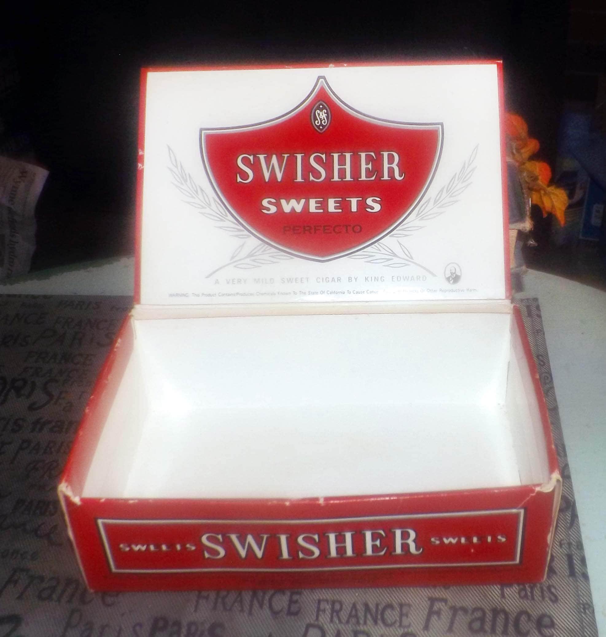 Vintage (mid 1970s) cigar box for King Edward Perfecto