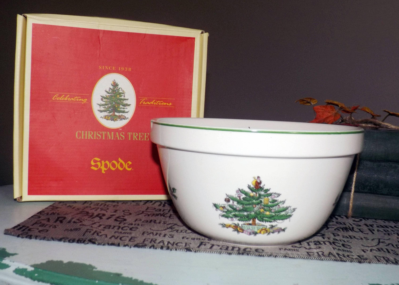 Vintage (1986) Spode Christmas Tree S3324 Serving Bowl