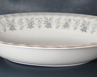 Vintage (1970s) Minton Alpine Spring vegetable serving bowl made in England.