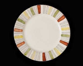 Retro vintage (1960s) Broadhurst Mandalay dinner plate. Kathie Winkle design made in England. Sold individually.