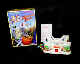 Vintage (1989) Roller Coaster marbles board game by Parker Brothers. Shoot the Chutes Race Game. Complete.