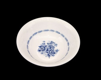 Vintage Mayfair Royal Florence blue-and-white round vegetable serving bowl made in Japan.