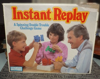 Vintage (1987) Instant Replay board game published by Parker Brothers. Complete.